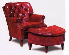 red leather chair and ottoman desk covers for sale 3183 best chairs ottomans images shinny from wellington s club