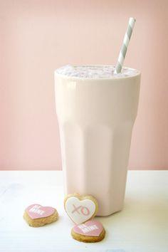 Possible philanthropy- conversation hearts/milkshake theme. Milkshake and cookies. #milkshake