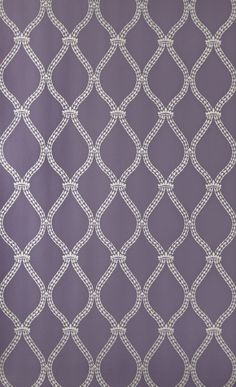 Crivelli Trellis (BP 3109) - Farrow & Ball Wallpapers - Crivelli Trellis features a simple and delicate wheat-detailed motif. Showing in metallic on purple water based paints - more colours are available. Please request a sample for true colour match.