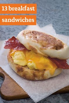 10 Breakfast Sandwiches – Breakfast sandwiches are great for on-the-go. These delicious recipes are a great way to start your day—especially since you can customize each dish with your choice of topping—like bacon, cheese, and avocado.