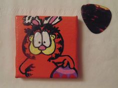 Handmade Garfield Magnet Easter Easter Egg Bunny by YumJellyDonuts