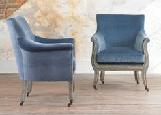 Julian Chichester - Library Chair - Available in Linen or velvet - there is a red velvet option but no leather