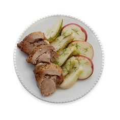 Use lean pork and serve with fresh vegetables to make this flavorful yet healthy slow cooker dinner. #myplate #vegetables #protein