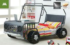 BIG TRUCK.      Big boys bed, how cute. My grandson Junior would love this.