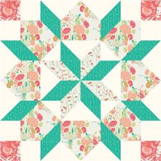 """This weeks 18″ SuperSized block is the Star of Bethlehem block. Many of you are probably familiar with this block as it recently became quite popular due to Camille Roskelley's """"Swoon"""" quilt pattern w"""