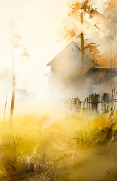 16 new Ideas for lighting illustration water Art Watercolor, Watercolor Landscape, Landscape Paintings, Watercolor Pencils, Landscape Art, Painting Inspiration, Painting & Drawing, Amazing Art, Awesome