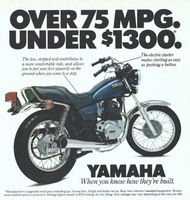 Yamaha Over 75 MPG 1980 Ad Picture