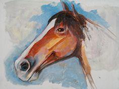horse, acrylic on canvas