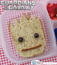 BentoLunch.net - What's for lunch at our house: Guardians of the Galaxy Groot Sandwich Bento
