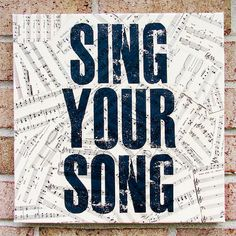Antique  Sheet Music Quote Art on Canvas  Sing Your by StoicDesign, $32.00