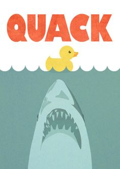 Jaws Spoof Rubber Duck Limited Edition Art Print