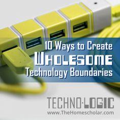 10 Great Ways to Create Wholesome Technology Boundaries. #internetaddiction #technology #homeschool #HomeScholar