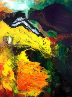 Gerhard Richter, Aladin 2010, acrylic on back of glass