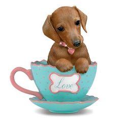 """Just My Cup Of Tea"" Dachshund Teacup Figurine"