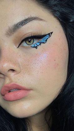 Dope Makeup, Indie Makeup, Edgy Makeup, Eye Makeup Art, Crazy Makeup, Pretty Makeup, Skin Makeup, Makeup Inspo, Makeup Inspiration