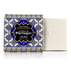 Ach Brito - Azulejos de Portugal - Citron Verbena Luxury Soap -Amazing packaging