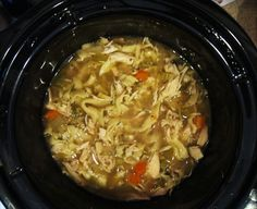 ChristineIsCooking.com: Crock Pot Chicken Noodle Soup with Parmesan