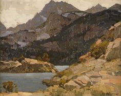 This is a photo of the Edgar Payne painting titled Lake in the Sierras.