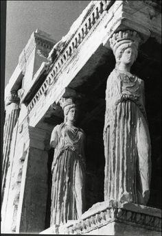 Isamu Noguchi: Erechtheion with the porch of Caryatids, Greece, 1949