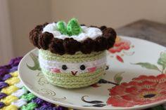 Amigurumi Food: Mint cake Amigurumi {Free Pattern} Crochet