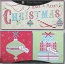 Show details for Christmas Card Pack - 18 Luxury Flitter Christmas Cards - Vintage Text