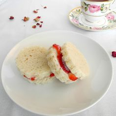 Strawberry Rose Tea Sandwiches - From Calculu∫ to Cupcake∫