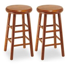Have to have it. Winsome Wood 24-Inch Charger Swivel Counter Stool - Set of 2 - $74.25 @hayneedle.com