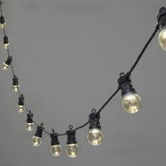 Guirlande Lumineuse Solaire Raccordable, 20 Globes Transparents En Plexiglas à LED Blanches Chaudes, Câble Noir, 5m, Type U: Amazon.fr: Jardin