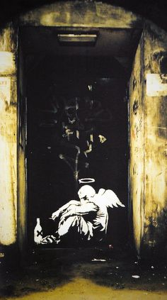 I love Banksy... He has the most unique way of expressing a sociopolitical commentary!