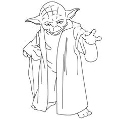 Delightful Yoda Outline   Google Search
