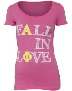Alpha Phi Fall In Love Scoop Tee