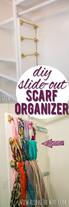 Every girl needs this! Brilliant way to hang your scarves - it slides out!