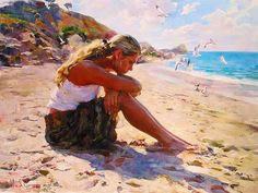 Michael and Inessa Garmash , Ukrainain Artist , garmash art , garmash paintings Fine Arts College, Art Competitions, Beach Art, Figure Painting, Figurative Art, Strand, Ocean, In This Moment, Drawings