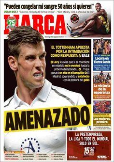 Los Titulares y Portadas de Noticias Destacadas Españolas del 4 de Agosto de 2013 del Diario Deportivo MARCA ¿Que le pareció esta Portada de este Diario Español?