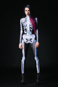 Halloween Costume Designer X-Ray Bones Costume Full by BADINKA