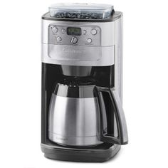Cuisinart Automatic Coffeemaker Burr Grind and Brew 12 Cup Charcoal Water Filter 5 Oz, Brushed Stainless Steel Coffee Maker With Grinder, Pod Coffee Makers, Best Coffee Maker, French Press Coffee Maker, Drip Coffee Maker, Thermal Coffee Maker, Charcoal Water Filter, Automatic Espresso Machine, Espresso Maker