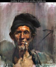 The old man of the cigarette - Joaquin Sorolla y Bastida - www.joaquin-sorolla-y-bastida.org