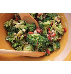 Salade brocoli, feta et poivrons grillés