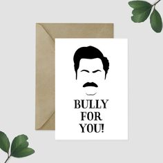 Ron Swanson Birthday Card Sarcastic Parks and Rec Card Funny