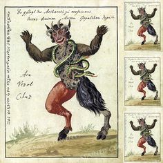 The Devil ceramic decal, devil ceramic transfer, demon decal, medieval devil ceramic transfer, 1400-1562 ºF, 750-850ºC, decals for ceramics door StainedGlassElements op Etsy
