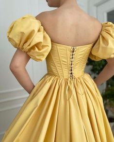 Yellow Evening Dresses, Yellow Gown, Yellow Formal Dress, Gala Dresses, Formal Dresses, Fairy Dress, Fantasy Dress, Party Gowns, Beautiful Gowns
