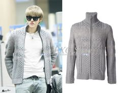 SID_OW_GIVENCHY_Kris Cable Knit Cardigan in Grey | Shop: USD($) | Image Source: Merry Kris
