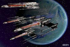 15 Star Wars - XWings by cosovin on DeviantArt 3ds Max, Sci Fi, Star Wars, Deviantart, Stars, Science Fiction, Starwars, Sterne, Star