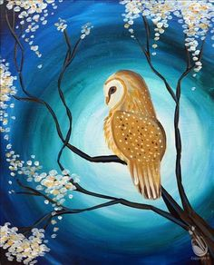 How to Paint ADULT CLASS: Tranquil Owl