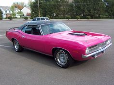 """Pink Hemi-Cuda to transport my """"Pink"""" 2nd amendment rights to the shooting range."""