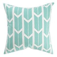 Teal Arrows Pillow by Caitlin Wilson textiles