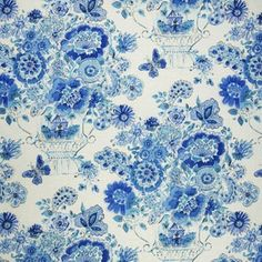 Home Decor GH Rainwater Blues Decorator Fabrics asian upholstery fabric
