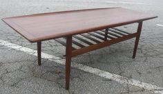 Mid Century Modern Large Danish Teak Coffee Table Grete Jalk