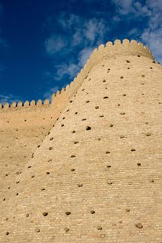 The Ark (fortress), Bukhara (Buxoro, Бухоро, بُخارا), Uzbekistan, It is a great wall and monument that you should visit