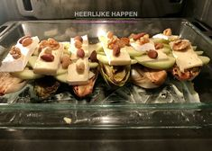 Witlof met brie en appel uit de oven - Heerlijke Happen Grilled Burger Recipes, Grilled Cheeses, Healthy Recepies, Iranian Food, Poached Eggs, Plated Desserts, Food Presentation, Food Plating, Cheesesteak